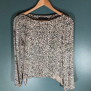 Zara Woman leopard print asymmetric cupro medium
